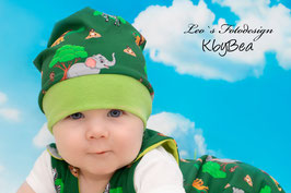 Mütze Dschungeltiere grün