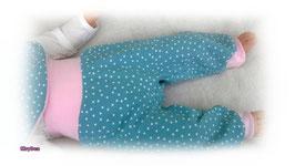 Pumphose Dotties grau/rosa