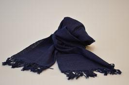 本藍染ショール3(鉄紺 てつこん ごく暗い紫みの青)