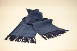 本藍染ショール1(瑠璃紺 るりこん 濃い紫みの青)