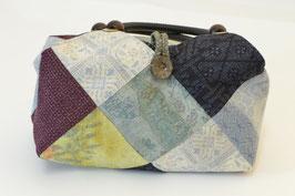 結城紬手縫いパッチワーク