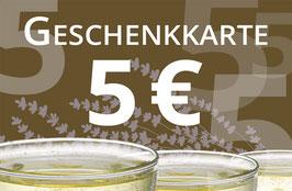 GUTSCHEIN 5€