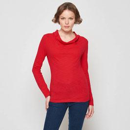 SALE: Langarm-Shirt in rot aus Slub-Jersey von Tranquillo