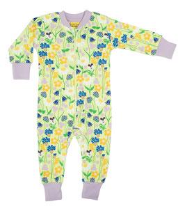 NEU: Einteiler-Pyjama Midsummer auf Hellgrün bis Grösse 110 von DUNS