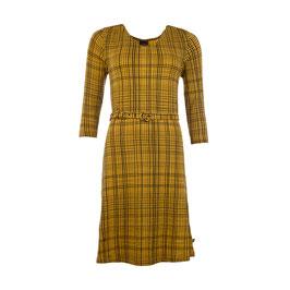 SALE: Damenkleid Linien Schwarz auf Mustard von Froy&Dind