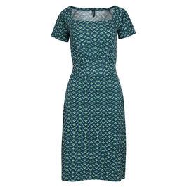 SALE: Kleid mit Lotus grün von Tranquillo