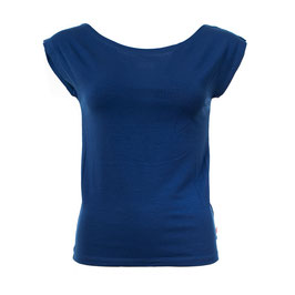 NEU: Damenshirt ohne Ärmel Blau mit Bateau-Ausschnitt