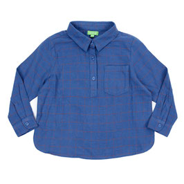 SALE: Flannel-Hemd in Blau mit braunen Streifen von Lily Balou