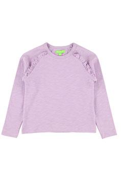 Langarm-Shirt mir Rüsche in Lila von Lily Balou