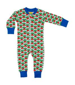 NEU: Einteiler-Pyjama mit Radieschen auf Hellblau von DUNS