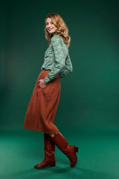 SALE: Damenjupe Double Face Braun von Lily Balou