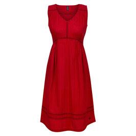 NEU: Das luftig-leichte Sommerkleid in Rot mit Webstreifen von Tranquillo