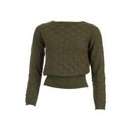 NEU: Pullover gestrickt in Olivegrün von Froy&Dind