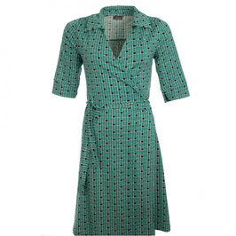 NEU: Damen Wickelkleid grün mit schwarzem Muster von Froy&Dind
