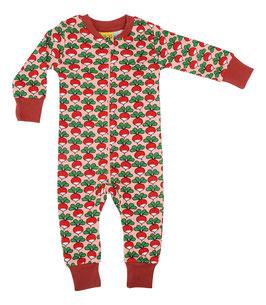 NEU: Einteiler-Pyjama Radieschen auf Rosa von DUNS