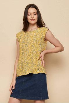 NEU: Sommer-Bluse mit Blümchen auf Gelb von Tranquillo