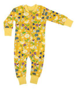NEU: Einteiler-Pyjama Midsummer auf Orange/Gelb bis Grösse 122 von DUNS