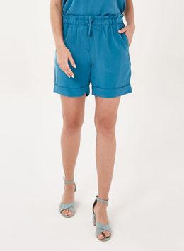 SALE: Paperbag-Shorts in Blau von Organication