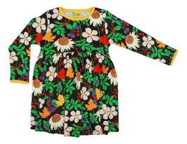NEU: Langarm-Kleid für Damen mit Blumen auf Braun von DUNS