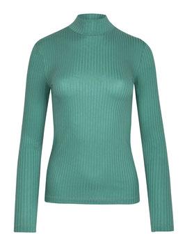 NEU: Damenshirt in Seeblau mit Stehkragen von Greenbomb