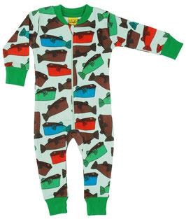 NEU: Einteiler-Pyjama mit Fugo Walen von DUNS bis Grösse 134