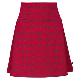 SALE: Jupe mit Blattmuster auf Rot von Tranquillo
