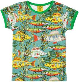 NEU: T-shirt Fische auf grün/blau von DUNS