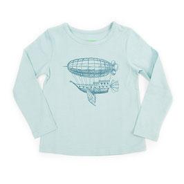 SALE: Shirt in Eisblau mit Zeppelin von Lily Balou