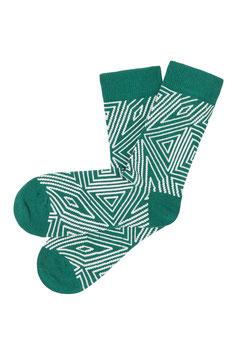 NEU: Socken gemustert in Grün von Tranquillo