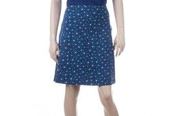 SALE: Damenjupe mit hübschem Blumenmuster in sattem Blau