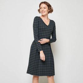 SALE: Midi-Kleid gemustert (olive, blau, schwarz) von Tranquillo