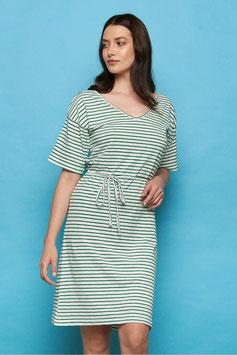 SALE: Sommer-Kleid gestrift weiss-grün von Tranquillo