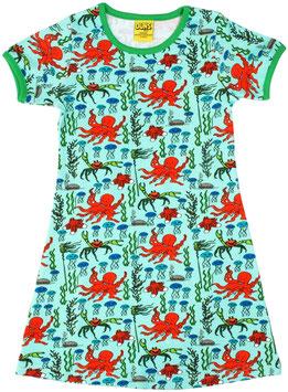 SALE: Kurzarm-Kleid mit Tintenfisch von DUNS