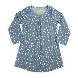SALE: Kleid mit Tropfen auf mattem Blau von Lily Balou