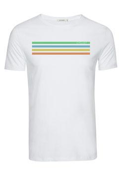 NEU: T-shirt Cyclist auf Weiss von Greenbomb