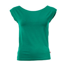 NEU: Damenshirt ohne Ärmel grün mit Bateau-Ausschnitt