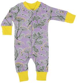 NEU: Einteiler-Pyjama mit Dillblüten violet von DUNS