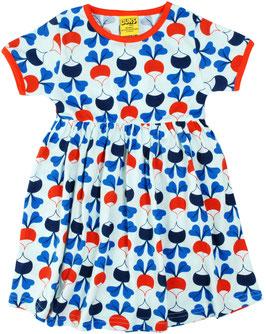 SALE: Kurzarm-Kleid mit Radiesli auf Hellblau von DUNS
