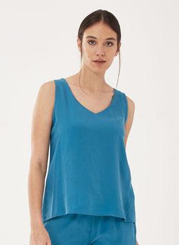 SALE: Sommer-Bluse in Blau von Organication