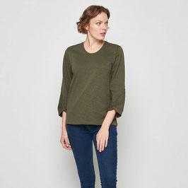 SALE: Tolles Shirt in Olive aus Slub-Jersey von Tranquillo