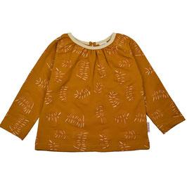 NEU: Langarm-Shirt mit Blätter auf Mustard von Baba