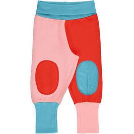 Baby-Hose mit Knieaufsätzen in Rosa/Rot/Blau von Maxomorra