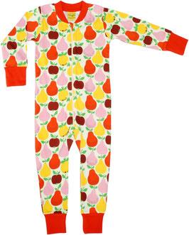 SALE; Einteiler-Pyjama mit Früchten rot von DUNS bis Grösse 122