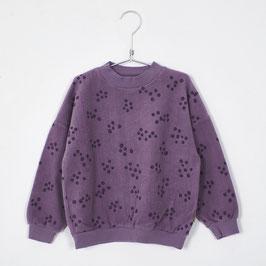NEU: Teddy-Sweatshirt mit Heidelbeeren auf Lila von Lötiekids