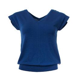 NEU: Damenshirt  mit V-Ausschnitt in Blau von Froy&Dind