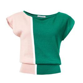 SALE: Shirt gestrickt in Grün/Weiss/Pink von Froy&Dind