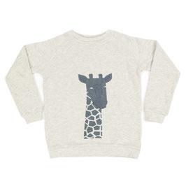 SALE: Pulli mit Giraffe auf écru Hintergrund von Liv+Lou