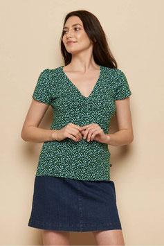 NEU: Kurzarm-Shirt gemustert Dunkelgrün/Dunkelblau von Tranquillo