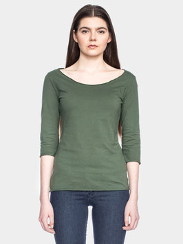Damenshirt 3/4-Arm in Olive von ATO Berlin