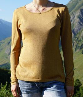Goldener Damenpulli aus Pima-Baumwolle von Dajoro